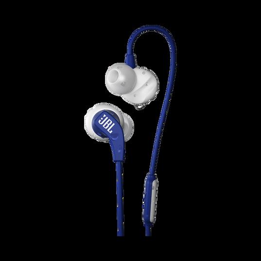 JBL Endurance RUN - Blue - Sweatproof Wired Sport In-Ear Headphones - Hero