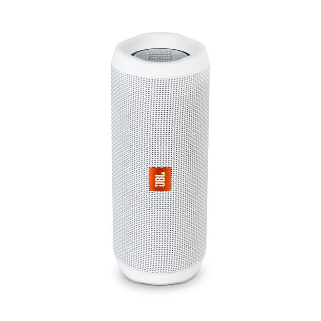 JBL Flip 4 - White - A full-featured waterproof portable Bluetooth speaker with surprisingly powerful sound. - Hero