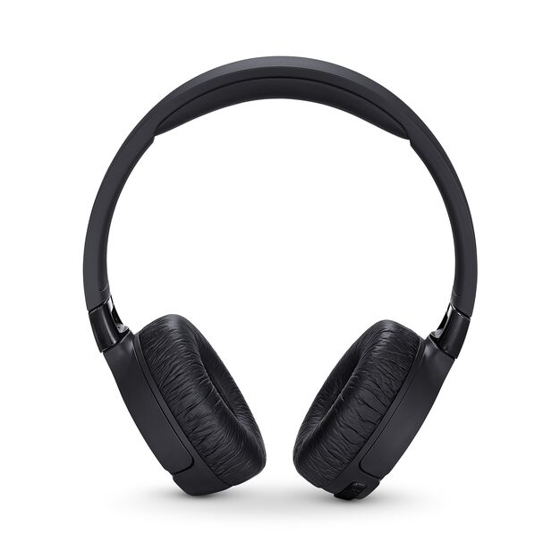 JBL TUNE 600BTNC - Black - Wireless, on-ear, active noise-cancelling headphones. - Front