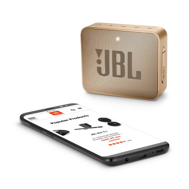 JBL GO 2 - Champagne - Portable Bluetooth speaker - Detailshot 3