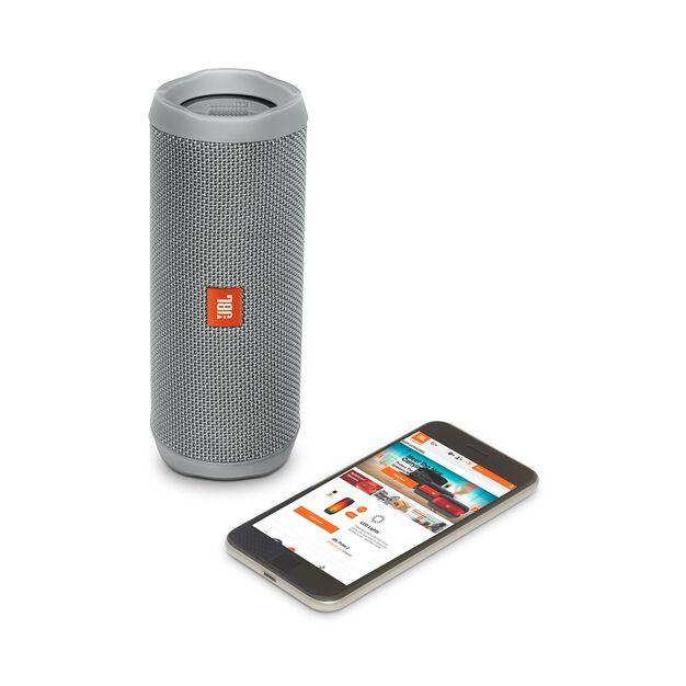 JBL Flip 4 - Grey - A full-featured waterproof portable Bluetooth speaker with surprisingly powerful sound. - Detailshot 2