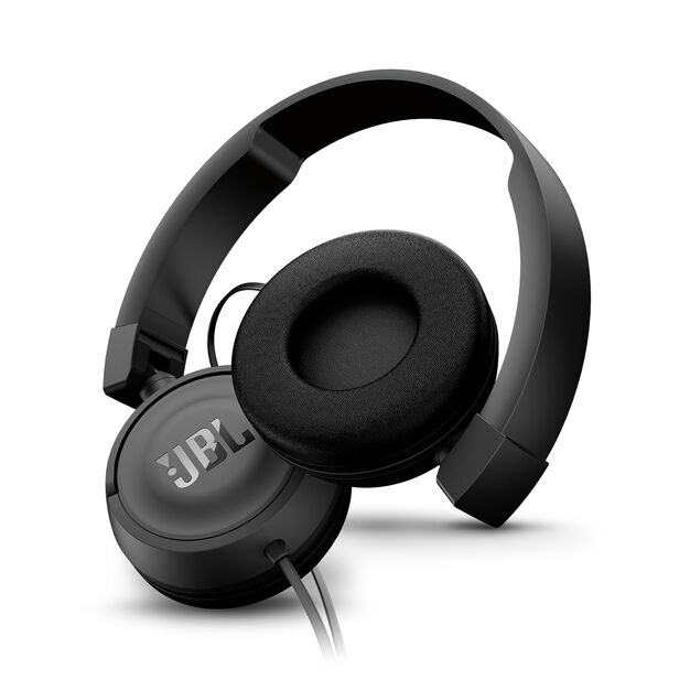 JBL T450 - Black - On-ear headphones - Detailshot 1